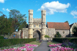 Cathédrale, abbaye Saint-Augustin et église Saint-Martin à Cantorbéry