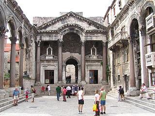 Noyau historique de Split avec le palais de Dioclétien