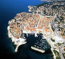 Dubrovnik vue aérienne