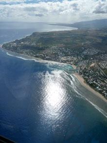 Réunion vue aérienne