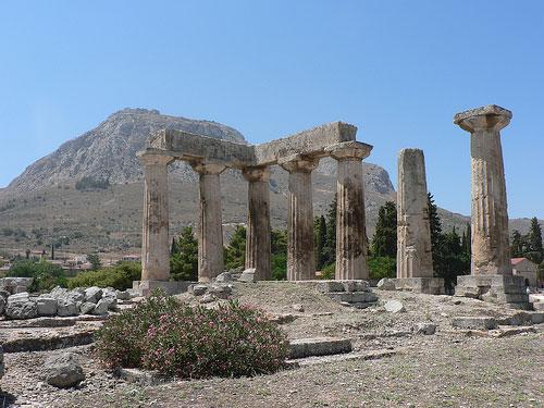 Temple d'apollon, corinthe (jean-marc astesana)