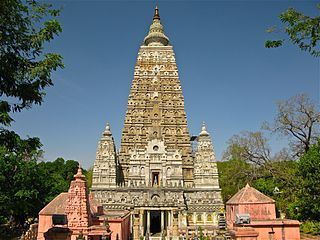 Ensemble du temple de la Mahabodhi à Bodhgaya