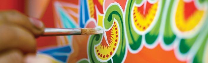 peinture sur charriots