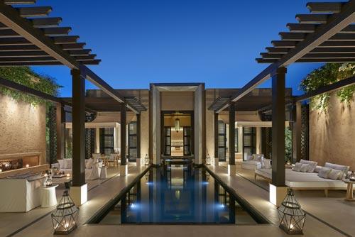 Mandarin Marrakech pool terrasse