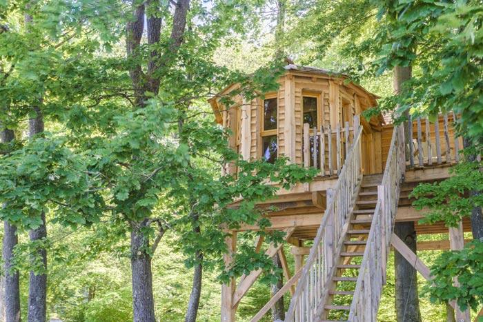 Cabane dans les arbres Joncherey