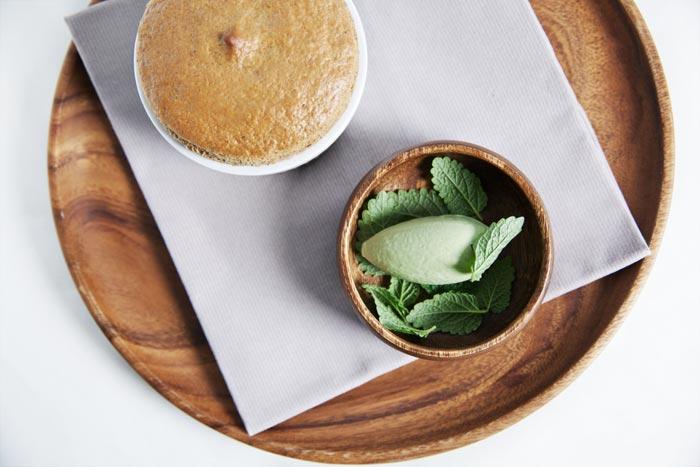 Soufflé café glace mélisse