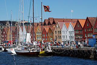 Quartier de Bryggen dans la ville de Bergen