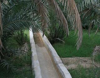Systèmes d'irrigation aflaj d'Oman
