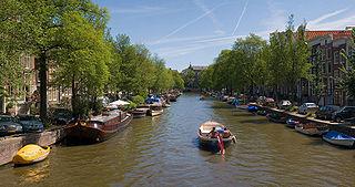 Zone des canaux concentriques du 17e siècle à l'intérieur du Singelgracht à Amsterdam