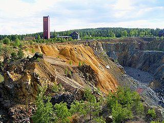 Zone d'exploitation minière de la grande montagne de cuivre de Falun
